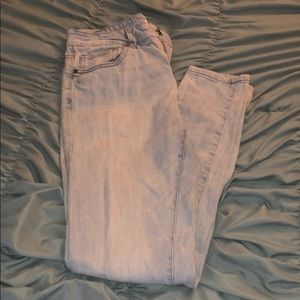 Light washed - mid waisted skinny jeans
